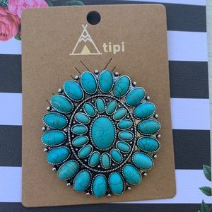Turquoise Broach NWT
